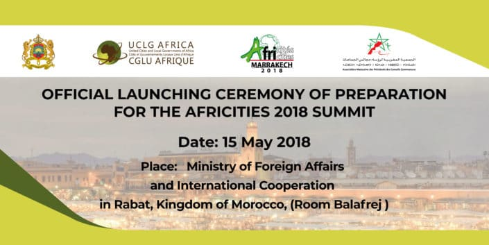 Africities 2018 Official Launching Ceremony
